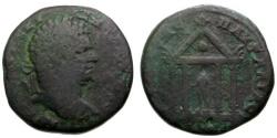 Ancient Coins - gF/gF Caracalla, Thrace Pautalia Æ28 / Apollo in Temple