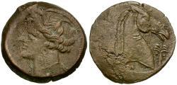 Ancient Coins - Zeugitana. Carthage Æ20 / Horse