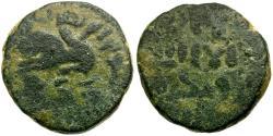 World Coins - Islamic. Umayyad Caliphate Æ Fals / Lion