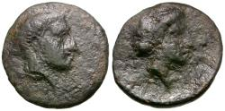 Ancient Coins - Thessaly. Phalanna Æ14 / Nymph