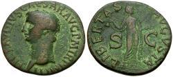 Ancient Coins - Claudius (AD 41-54) Æ AS / Libertas