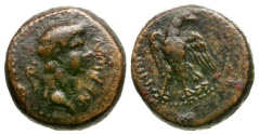 Ancient Coins - Nero. Lydia. Tralles Æ14 / Eagle