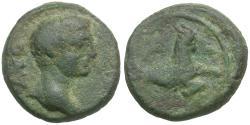 Ancient Coins - Augustus (27 BC-AD 14). Mysia. Parium Æ Quadrans / Capricorn