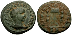 Ancient Coins - Volusian, Pisidia Antioch Æ24 / Vexillum and Standards