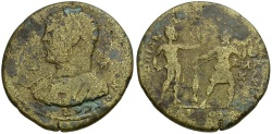 Ancient Coins - Caracalla. Cilicia. Tarsos Æ33 / Perseus and Fisherman