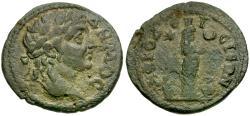 Ancient Coins - Caria. Aphrodisias. Pseudo-Autonomous Issue Æ23 / Statue of Aphrodite of Aphrodisias