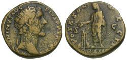 Ancient Coins - Antoninus Pius (AD 138-161) Æ Dupondius / Antoninus Sacrificing