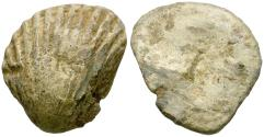 Ancient Coins - Roman Republic. Anonymous. Pb Sextans / Cockle Shell