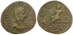 Ancient Coins - Herennia Etruscilla (AD 249-251). Cilicia. Laertes Æ / Zeus