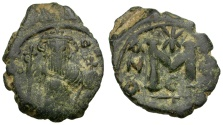 Ancient Coins - Byzantine Empire.  Constans II Æ Follis