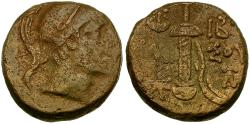 Ancient Coins - Pontos. Amisos. Time of Mithradates VI Eupator Æ20 / Sword in Sheath