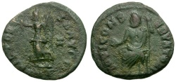Ancient Coins - Maximinus II. Pagan Coinage of the Great Persecution Æ15