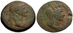 Ancient Coins - aVF/aVF Trajan, Syria, Laodicaea ad Mare Æ26 / Head of Tyche