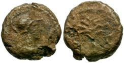 Ancient Coins - Anonymous Æ Quadrans / Olive Tree