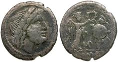 Ancient Coins - 211-208 BC - Roman Republic.  Anonymous Issue AR Victoriatus