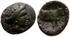 Ancient Coins - Euboea. Histiaia Æ14 / Bull