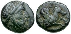 Ancient Coins - Persian Satraps of Mysia. Orontas Æ11 / Pegasus