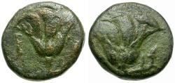 Ancient Coins - Islands off Caria. Rhodos Æ11 / Roses