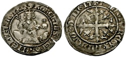 World Coins - Kings of Italy, Naples, Roberto I the Wise AR Gigliato