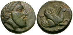 Ancient Coins - Mysia. Adramytion. Orontes as Satrap of Mysia Æ12