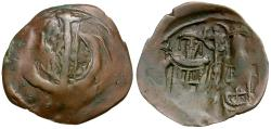 Ancient Coins - *Sear 2458* Byzantine Empire. Andronicus II Palaeologus (AD 1282-1328) Æ Trachy
