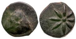 Ancient Coins - Asia Minor. Uncertain Mint (Pontos?) Æ13 / Pileus and Star