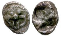 Ancient Coins - Asia Minor. Uncertain AR Hemidrachm / Gorgon