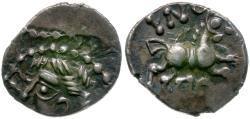 Ancient Coins - Ancient France. Celtic Gaul. Eduens. Aedui AR Quinarius