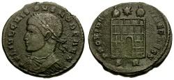 Ancient Coins - Crispus Caesar Æ3 / Unpublished Mintmark
