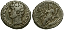 Ancient Coins - Hadrian. Egypt. Alexandria Billon Tetradrachm / Nilus