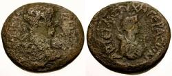 Ancient Coins - Hadrian, Syria, Decapolis Gerasa Æ26 / Lindgren Plate Coin