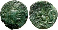 Ancient Coins - Ancient France. Celtic Gaul. Ambiani Tribe Æ / Horse