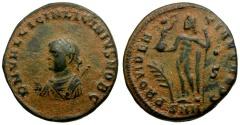 Ancient Coins - Licinius II Æ3 / Jupiter