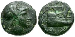 Ancient Coins - Kings of Macedon. Demetrios I Polorketes Æ 1/4 Unit / Prow