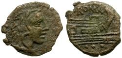 Ancient Coins - 91 BC - Roman Republic. Anonymous Æ Quadrans