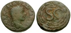 Ancient Coins - Elagabalus.  Syria.  Antioch Æ19 / Wreath