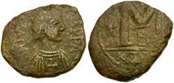 Ancient Coins - *Sear 257* Byzantine Empire. Justinian I Æ Follis / Carthage mint