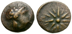 Ancient Coins - Mysia.  Gambrion Æ10 / Apollo and Star