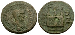 Ancient Coins - Philip II as Caesar Pamphylia Perga Æ24 / Prize crowns on chest