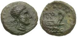 Ancient Coins - Sicily. Panormos Æ11 / Prow