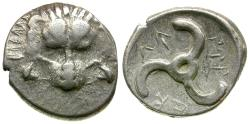 Ancient Coins - Dynasts of Lycia. Perikles 1/3 AR Stater / Triskeles
