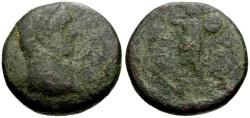 Ancient Coins - Domitian, Judaea Ascalon Æ19 / Phanebal