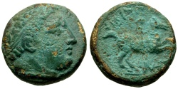 Ancient Coins - Kings of Macedon, Philip II Æ16 / Youth on Horseback