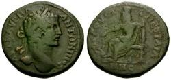 Ancient Coins - VF/gF+ Caracalla Thrace Augusta Æ30 / Serapis