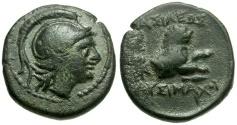 Ancient Coins - Kings of Thrace.  Lysimachos Æ14 / Lion