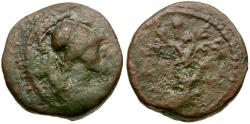 Ancient Coins - Attica. Athens. Pseudo-autonomous Æ12 / Olive Tree