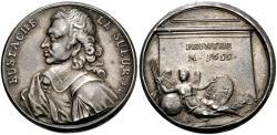 World Coins - France. Royal. Eustache Le Sueur. (AD 1616-1655) AR Medalet