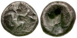 Ancient Coins - Persian Empire. Achaemenids. Time of Darius II-Artaxerxes III AR 1/4 Siglos