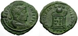 Ancient Coins - VF/VF Constantine I The Great Æ3 / Globe on Altar