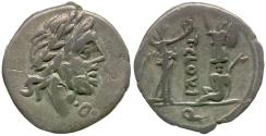 Ancient Coins - 98 BC - Roman Republic. Titus Cloulius AR Quinarius / Victory and Captive